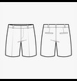 short pants fashion flat sketch template vector image vector image