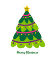 simple christmas tree design elements for vector image vector image