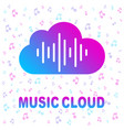 simple icon with cloud and sound equalizer wave vector image vector image