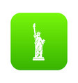 statue of liberty icon digital green vector image vector image