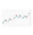 stock market forex trading graph futuristic smart vector image vector image