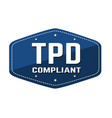 tdp tobacco products directive compliant label or vector image vector image