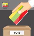 The elections in Myanmar vector image vector image