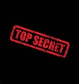 top secret vector image vector image