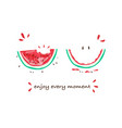 tropical slogan watermelon t-shirt graphic vector image vector image