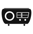 tuned radio icon simple style vector image vector image