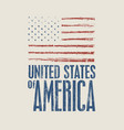us flag and inscription united states america vector image