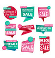valentine s day sale banner set february vector image vector image
