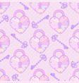 valentines pattern cute seamless texture with vector image vector image