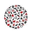 vampire icons in circle vector image vector image