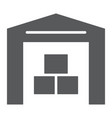 warehouse glyph icon building and store storage vector image vector image