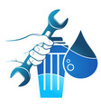 water filter installation and maintenance vector image
