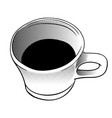 cup of coffee in halftone style - vector image