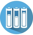 Icon with battery saving electricity vector image