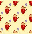 circus cartoon monkey character animal wild zoo vector image