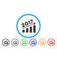 2017 bar chart trend rounded icon vector image vector image