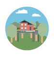 a house on a tree vector image vector image