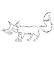 an animation cunning fox for the childrens book vector image vector image