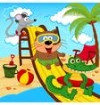 animals in aqua park vector image vector image