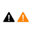 attention sign caution exclamation triangle icon vector image vector image