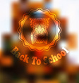 Autumn Back To School Background vector image