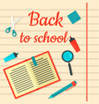 back to school notebook background flat style vector image vector image