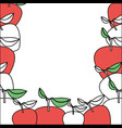 background with color sections of apple fruits vector image