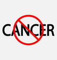background with text no cancer vector image