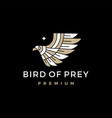 bird prey logo icon vector image vector image