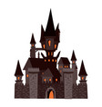 black castle abandoned holiday halloween vector image