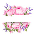blooming spring flowers garland vector image vector image
