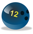 Blue bowling ball number 12 vector image vector image