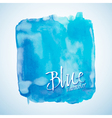 Blue watercolor square design element vector image