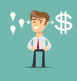 businessman with ideas vector image vector image
