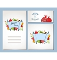 card set for Jewish Holiday Rosh Hashana with vector image vector image
