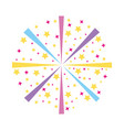 carnival stars decoration icon vector image