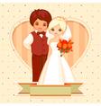cartoon wedding card vector image