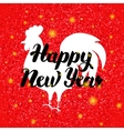 Chinese Red Rooster New Year vector image vector image