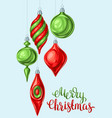 christmas background with balls vector image
