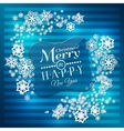 Christmas card Paper snowflakes on blue vector image vector image