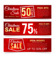 christmas sales banners winter and new vector image vector image