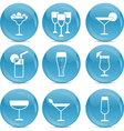 Cocktail web icons vector image vector image