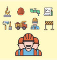 construction linear icons universal vector image vector image