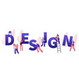 design concept teamworking people with crane vector image vector image