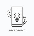 development line icon outline vector image