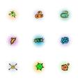 Disease icons set pop-art style vector image vector image