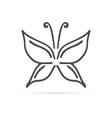 doodle line butterfly icon hand drawing style vector image vector image