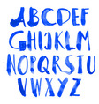drawn alphabet vector image