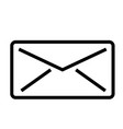 email mail stream line icon vector image
