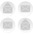 Email white bottons vector image
